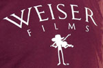 Weiser Films Fiddle T-Shirt, Maroon, photo